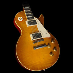 "Used 2015 Gibson Custom Collector's #15 1958 Les Paul ""Greg Martin"" VOS Guitar Lemonburst"