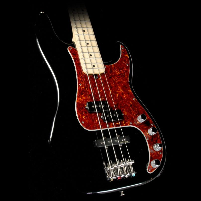 Used Fender American Deluxe Precision Bass Guitar Warmoth Neck Black