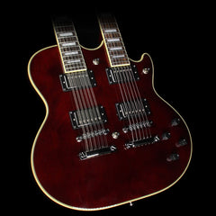 D'Angelico Premier Series Doubleneck Electric Guitar Trans Wine