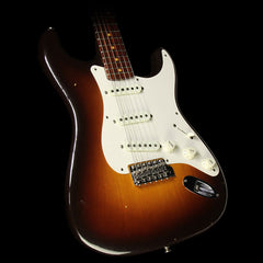 Fender Custom 2017 NAMM Custom 57 Stratocaster Rosewood Neck Relic Electric Guitar Chocolate 2-Tone Sunburst
