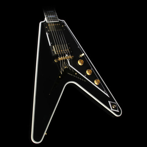 Gibson Custom Shop Flying V Custom Electric Guitar Ebony