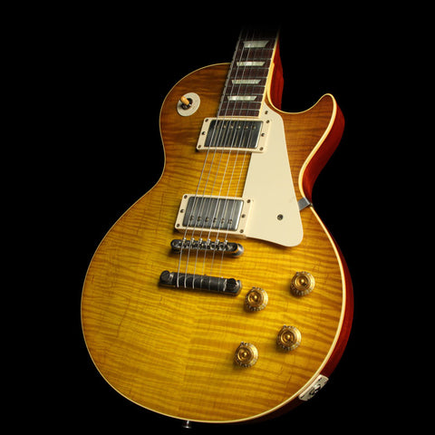 Used 2014 Gibson Custom Shop Joe Bonamassa Skinnerburst 1959 Les Paul Aged Electric Guitar Dirty Skinnerburst Lemonburst