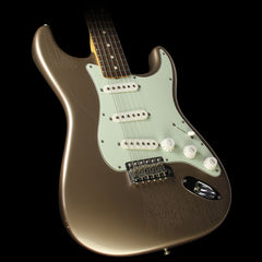 Used 2013 Fender Custom Shop Anniversary '64 L-Series Stratocaster Closet Classic Electric Guitar Shoreline Gold