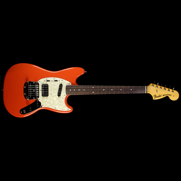 used 2012 fender kurt cobain mustang electric guitar fiesta red the music zoo. Black Bedroom Furniture Sets. Home Design Ideas