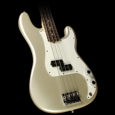 Used 2011 Fender American Standard Precision Bass Electric Bass Guitar Inca Silver