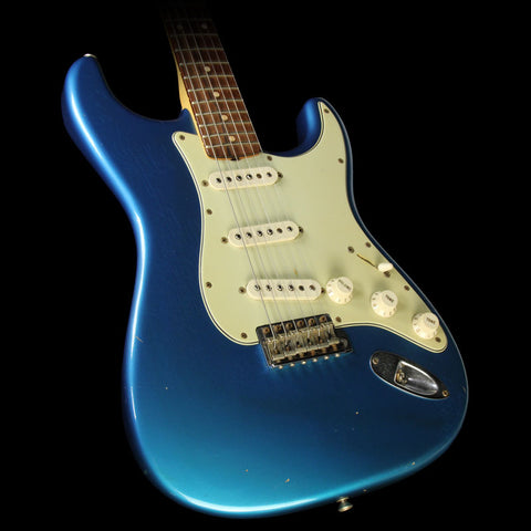 Used 2004 Fender Custom Shop '60 Stratocaster Relic Electric Guitar Metallic Blue with Matching Headstock