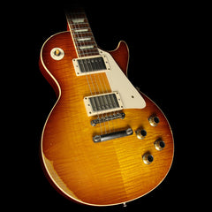 Used 2014 Gibson Custom Shop '60 Les Paul Reissue Heavy Aged Standard Iced Tea Fade