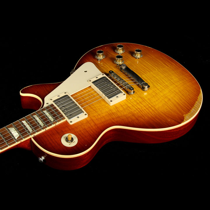 Used 2014 Gibson Custom Shop '60 Les Paul Reissue Heavy Aged Standard Iced Tea Fade 4700