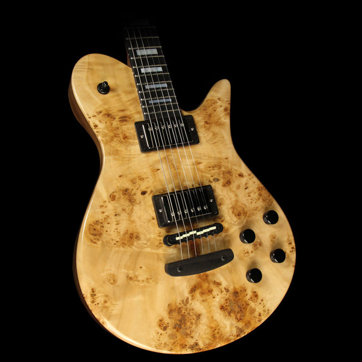 Fodera Imperial Poplar Burl and Walnut Electric Guitar Natural 7059