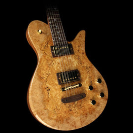 Fodera Imperial Spalted Maple and Mahogany Electric Guitar Natural