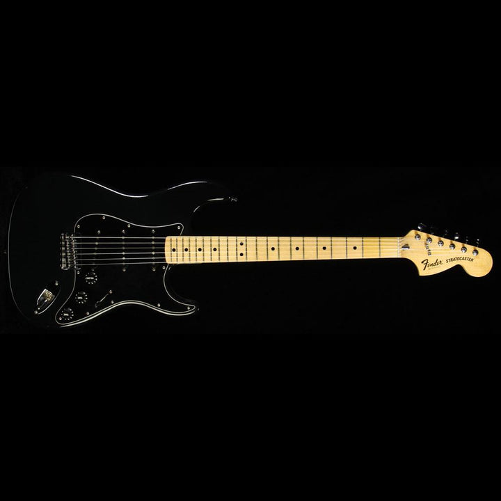 Used 1976 Fender Stratocaster Hardtail Electric Guitar Black S769817
