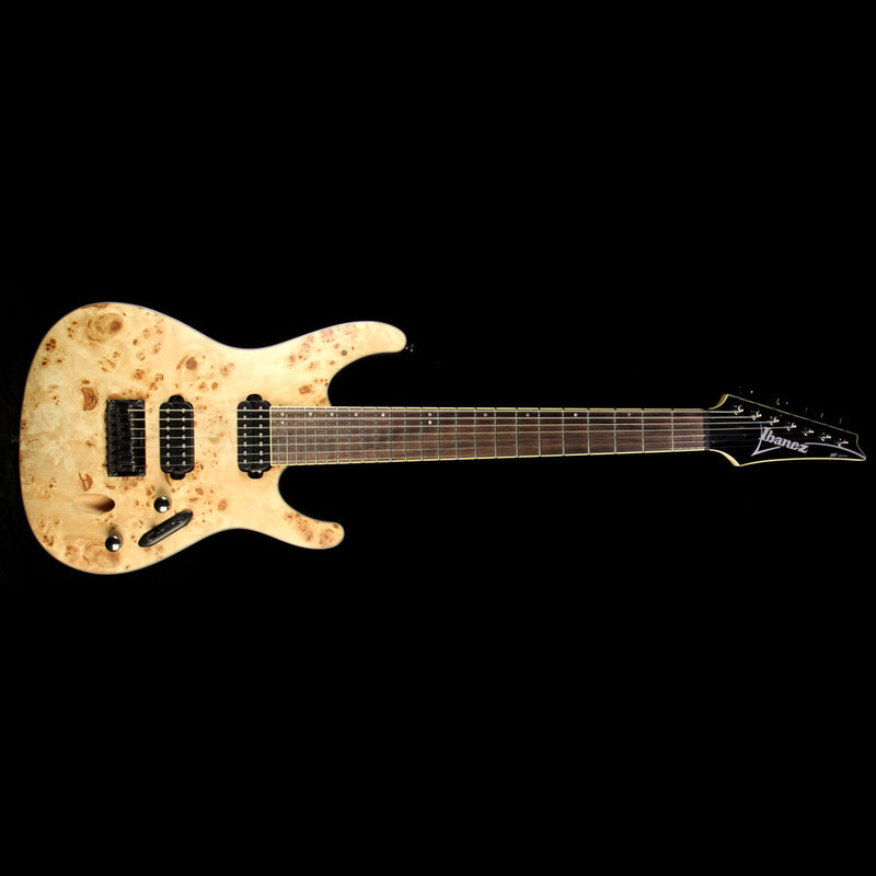 Used Ibanez S7721PB 7-String Electric Guitar Flat Natural I150914737
