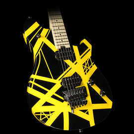 EVH Wolfgang Special Electric Guitar Striped Black and Yellow