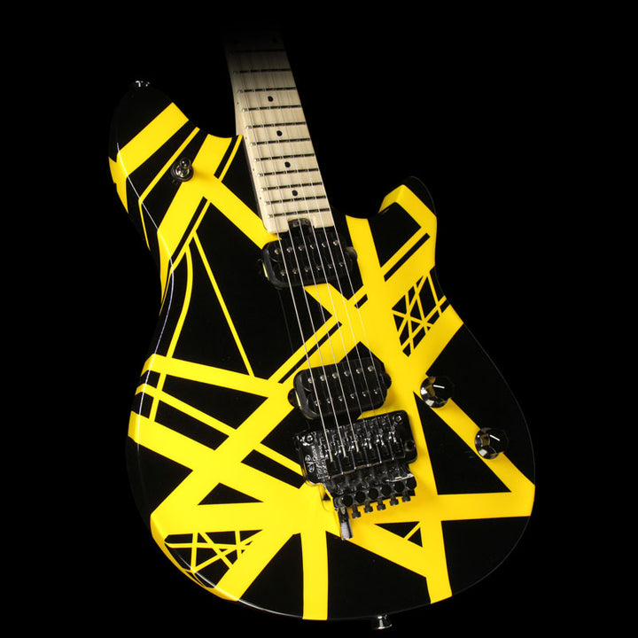 Used EVH Wolfgang Special Electric Guitar Striped Black and Yellow 5107701516
