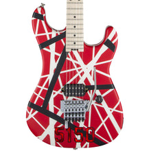 EVH Striped Series 5150 Electric Guitar Striped Red Black and White