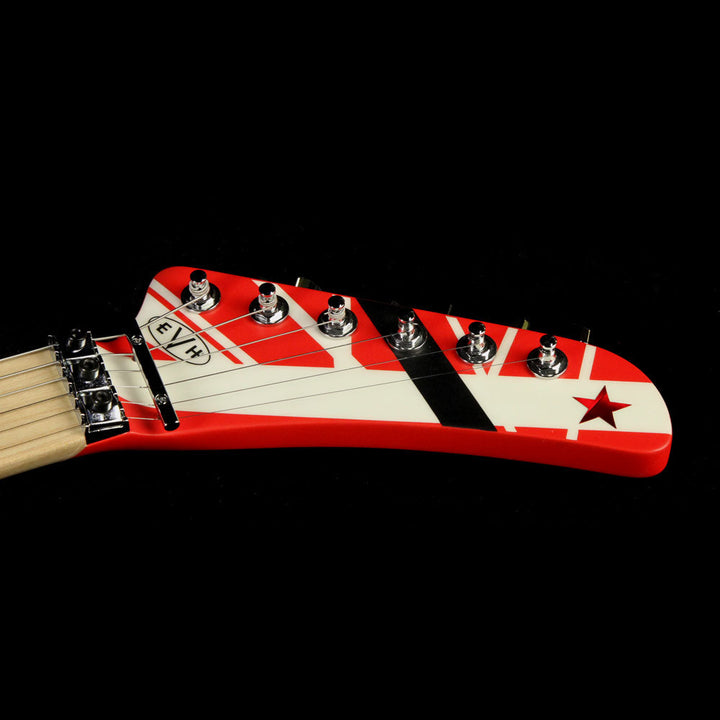 EVH Striped Series 5150 Electric Guitar Striped Red Black and White 5107902515