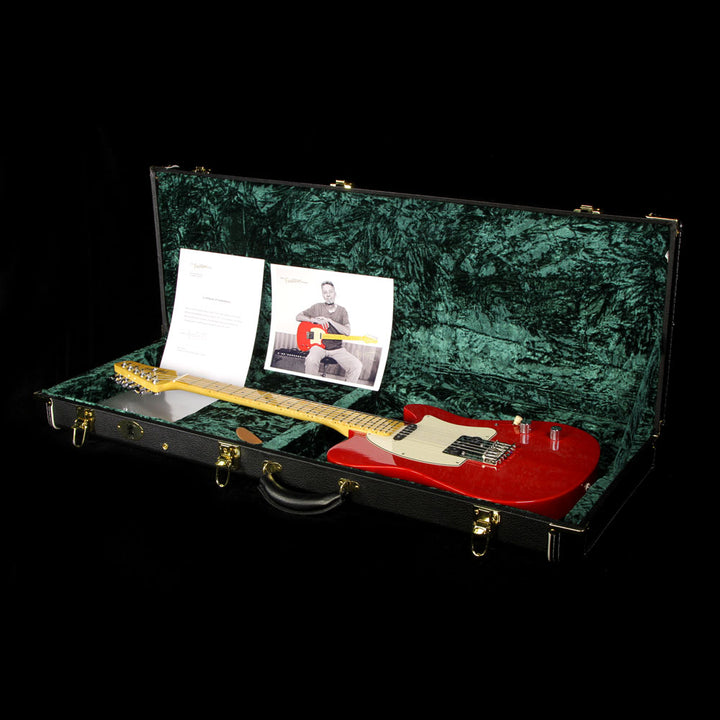Used Buzz Feiten T Pro Electric Guitar Trans Red 86
