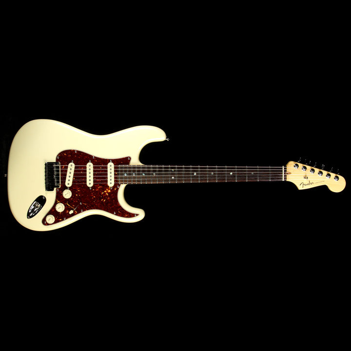 Used 2006 Fender American Deluxe Stratocaster Electric Guitar Pearl White DZ6035866
