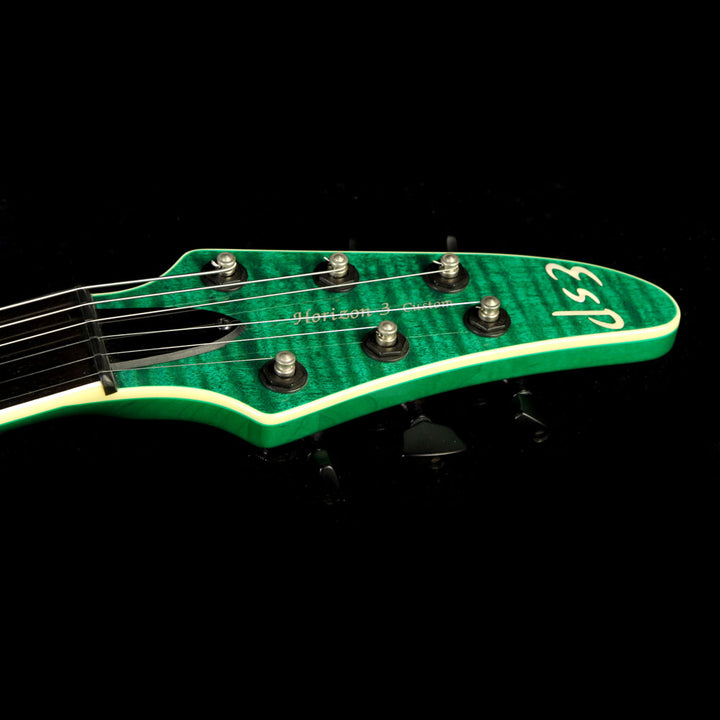 Used 2012 ESP  Horizon-III FM Electric Guitar See-Through Green K0324301
