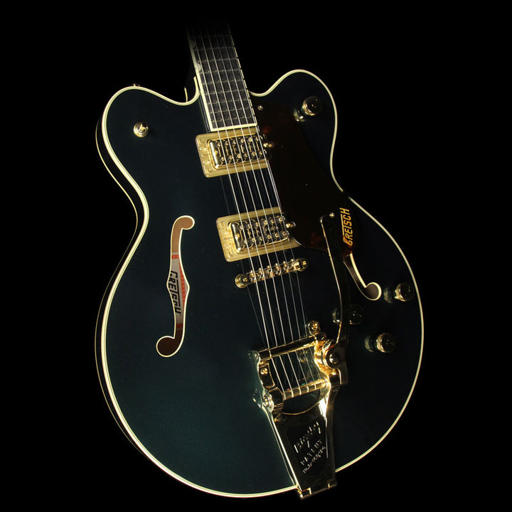 Used Gretsch G6609TG-CDG Players Edition Broadkaster Electric Guitar with Bigsby Cadillac Green 2401900846