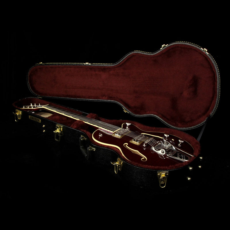 Used Gretsch G6659TFM-DCH Players Edition Broadkaster Jr. Electric Guitar with Bigsby Dark Cherry Stain JT16124173