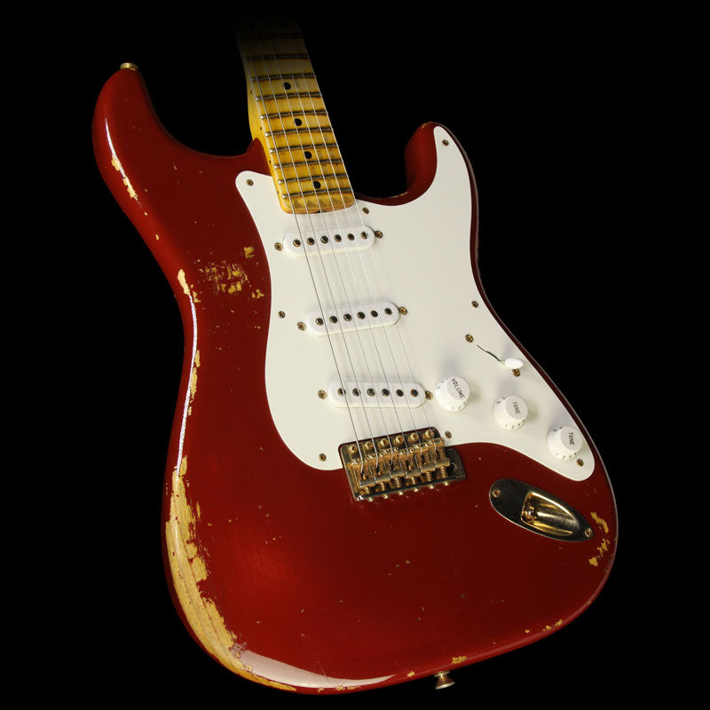Used 2014 Fender Custom Shop 60th Anniversary '54 Stratocaster Relic Electric Guitar Cimarron Red 2439