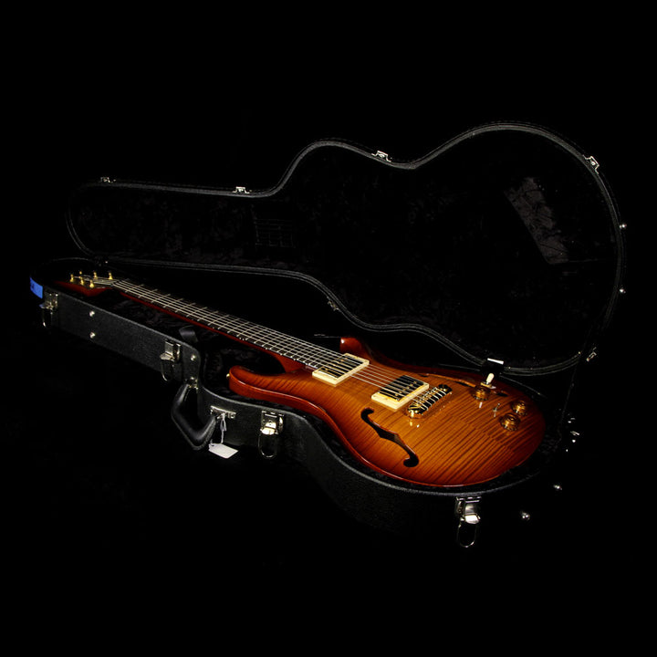 Used 2008 Paul Reed Smith Hollowbody II Electric Guitar Vintage Amber Sunburst 8135611