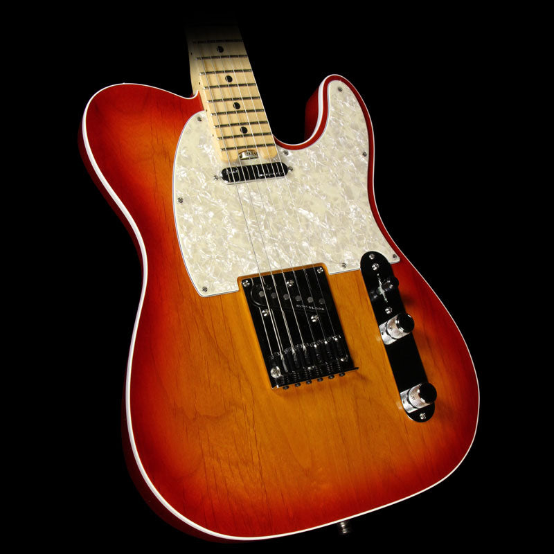 Used 2015 Fender American Elite Telecaster Electric Guitar Aged Cherry Burst US15070840