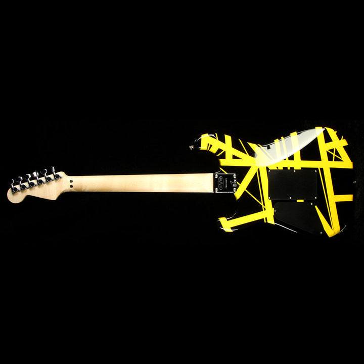 Used 2013 EVH Striped Series Electric Guitar Black with Yellow Stripes EVH1304423