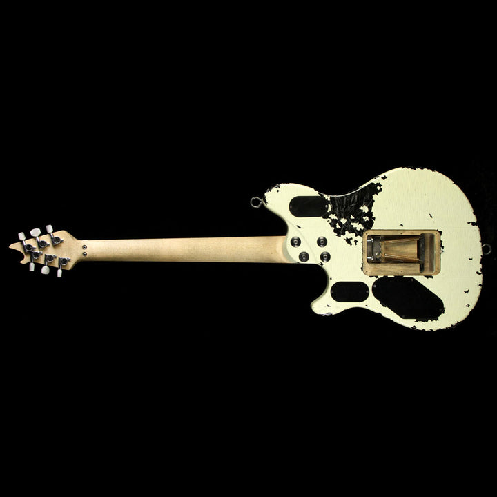 Used 2016 EVH Limited Edition Tour Relic Wolfgang Electric Guitar Ivory WG03547A