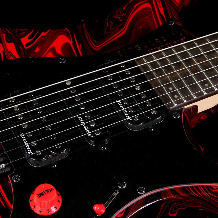Strandberg Singularity Per Nilsson Signature Model Standard Frets Electric Guitar Black and Red Swirl Y1708027