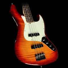Fender American Pro Jazz Bass Limited Edition FMT Electric Bass Aged Cherry Burst