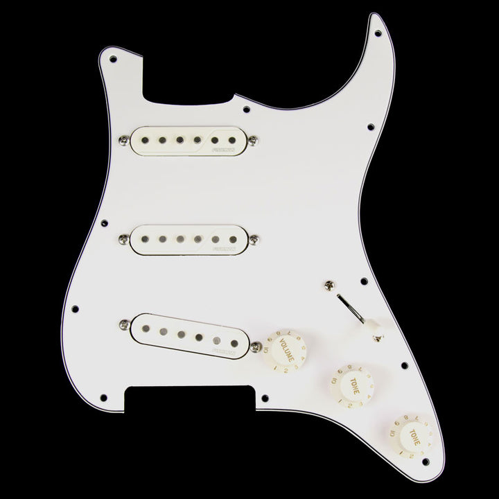Fishman Fluence Loaded Pickguard Electric Guitar Pickup Set White PRF-STR-WPG