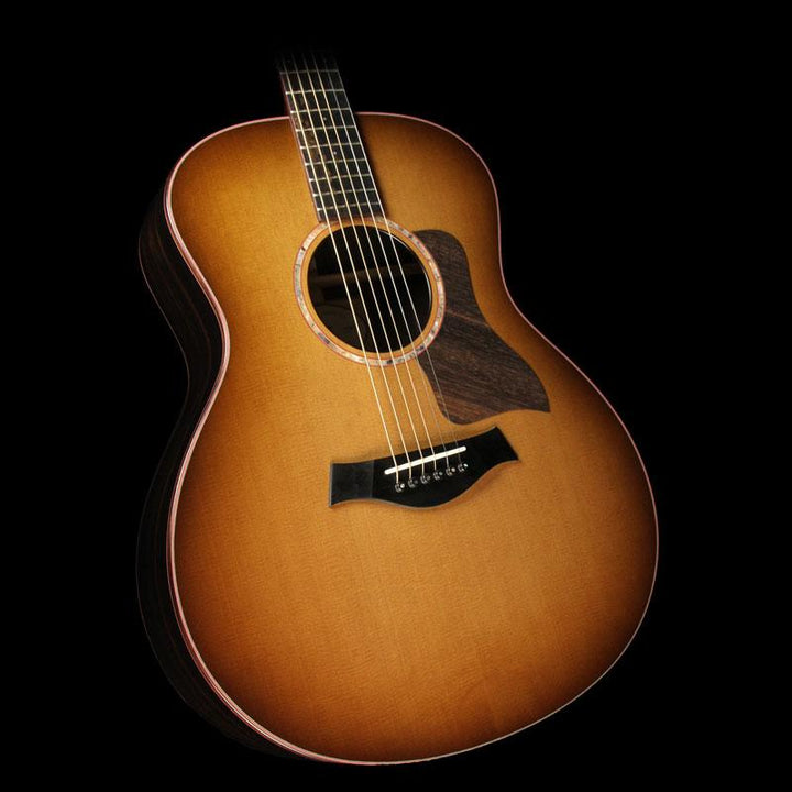 Used Taylor Custom GS Macassar Ebony Acoustic Guitar Satin Edgeburst 1111036089
