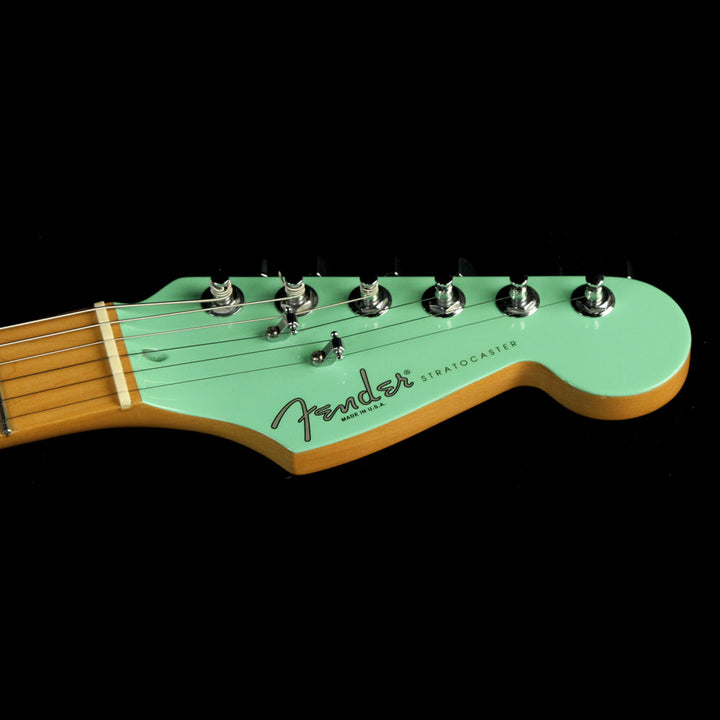 Used 1995 Fender American Standard Stratocaster Electric Guitar Surf Green with Matching Headstock N553979