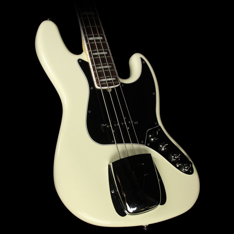 Used 2013 Fender American Deluxe Jazz Bass White Blonde US13002100