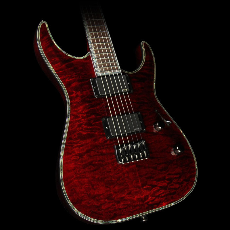 Used ESP LTD H-1000 QM Electric Guitar See-Thru Black Cherry LH1000QMSTBC