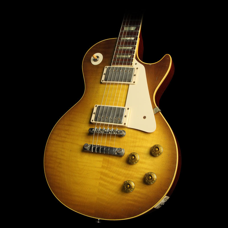 Used 2014 Gibson Custom Shop 1958 Les Paul Reissue Historic Makeover RDS Electric Guitar Dirty Lemon Burst 842025