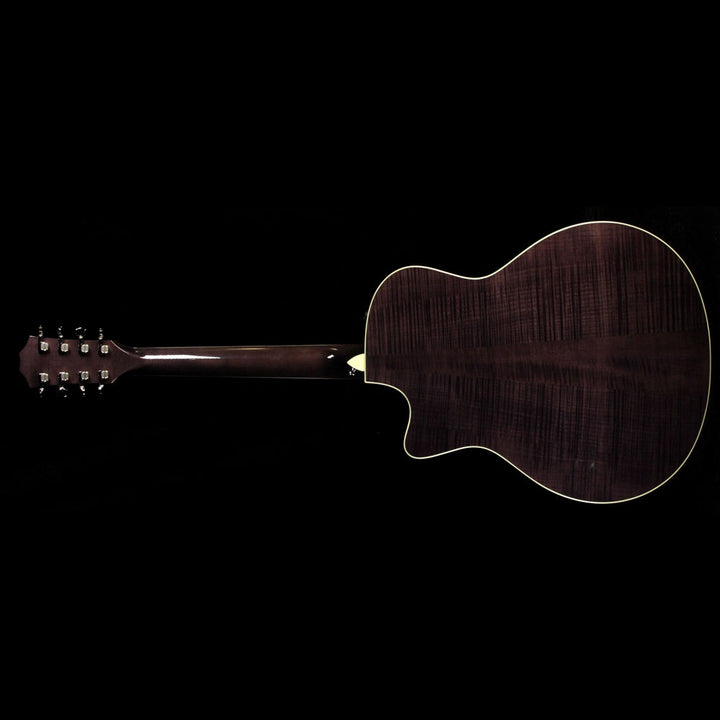 Taylor Custom Shop Grand Symphony Baritone 8-String Acoustic-Electric Guitar Sitka Spruce and Flame Maple Charcoal Black 1103317086