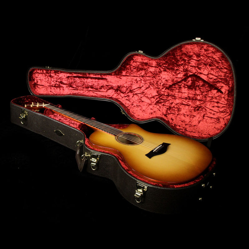 Taylor Custom Shop Grand Auditorium Acoustic-Electric Guitar European Spruce and Black Limba 1104107104