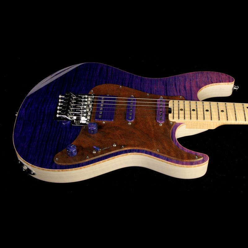 ESP Custom Shop 2017 NAMM Display Snapper-FR Electric Guitar See-Through Pink Purple E3690162