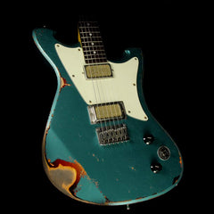 Wild Custom Guitars Wildmaster Electric Guitar Relic Teal Green over Sunburst