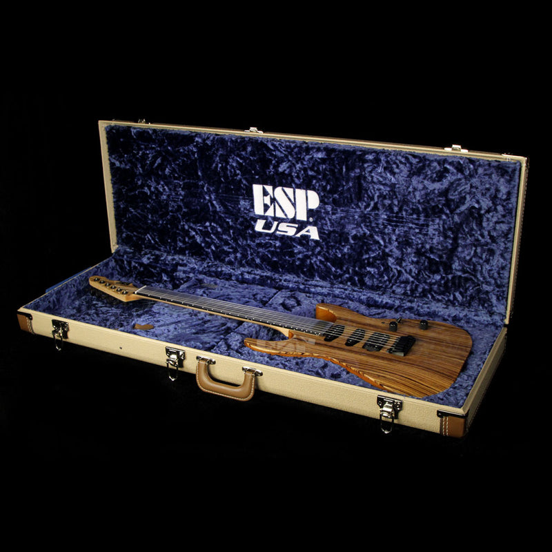 ESP USA Limited Edition M-III Zebrawood Electric Guitar Natural US16150