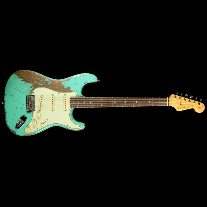 Used 2015 Fender Custom Masterbuilt Jason Smith '62 Ultimate Relic Stratocaster Electric Guitar Sea Foam Green R80435