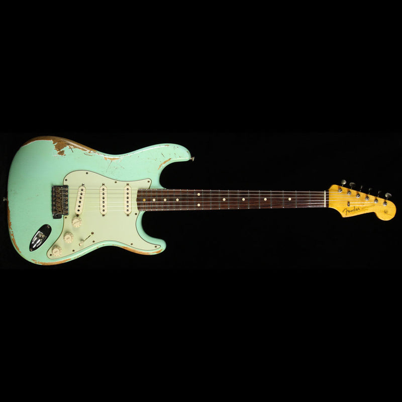 Used  Fender Custom Shop '60 Stratocaster Relic Electric Guitar Surf Green R63782