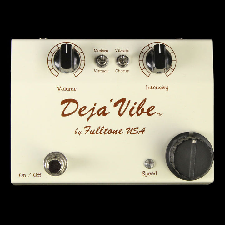 Used Fulltone Mini Deja Vibe Guitar Effects Pedal Cream