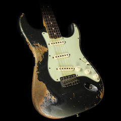 Used 2013 Fender Custom Shop '63 Stratocaster Heavy Relic Electric Guitar Charcoal Frost Metallic