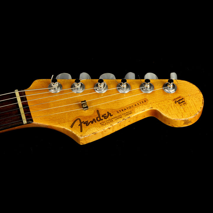 Used 2013 Fender Custom Shop '63 Stratocaster Heavy Relic Electric Guitar Charcoal Frost Metallic R75334