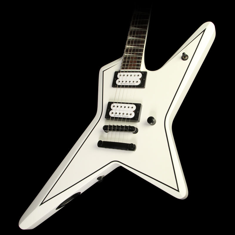 Used Jackson X Series Gus G. Star Electric Guitar Satin White with Black Pinstripes 2919000576