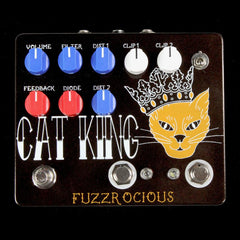 Fuzzrocious Cat King Fuzz with Momentary Feedback Switch Effects Pedal